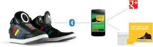 Google's talking shoes