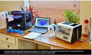 3-D Recycling: Grind, melt, print!