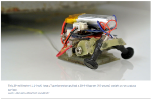 Tiny microrobots team up and move full-size car