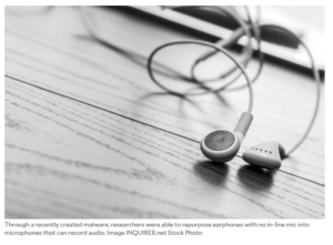 Malware hacks and turns headphones into microphones