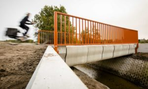 World's first 3D-printed bridge opens to cyclists in Netherlands