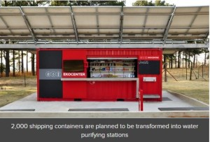 Shipping container conversion provides clean water in developing countries