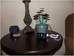 Make a solar shrub for charging your gadgets