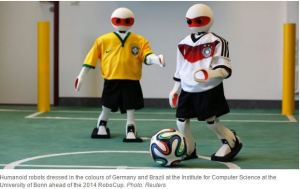 Heads up, World Cup: Robots take the field