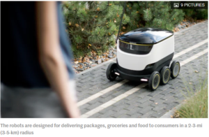 Delivering the future: Autonomous courier bots take to the streets